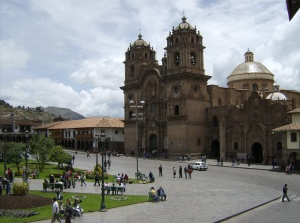 A view of the Plaza de Armas