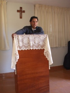 Efrain giving devotion
