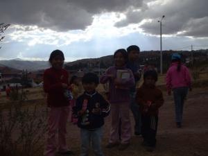 Rebeka, Samil, Rosalín, Bryan, and Miguelito