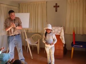 xiomara receiving her Bible